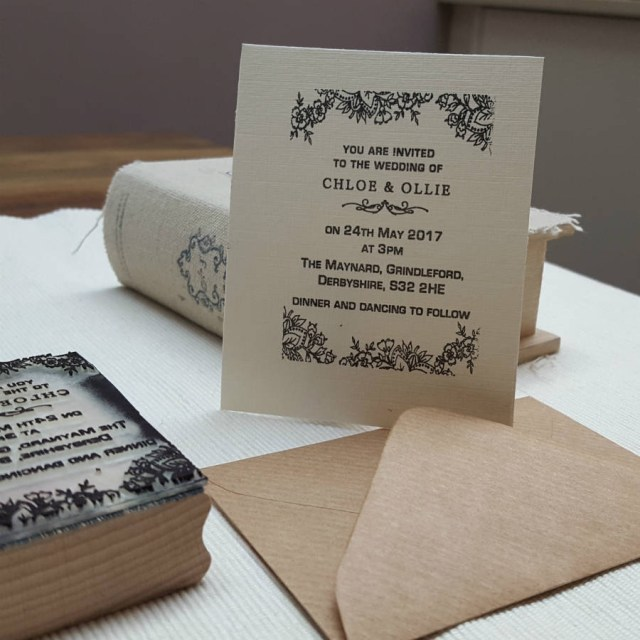 Wedding Invitation Stamps Personalised Wedding Invitation Stamp Lace Design Pretty Rubber