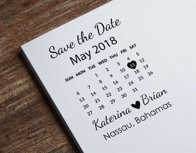 Wedding Invitation Stamps Save The Date Stamp Calendar Stamp Custom Wedding Stamp Etsy