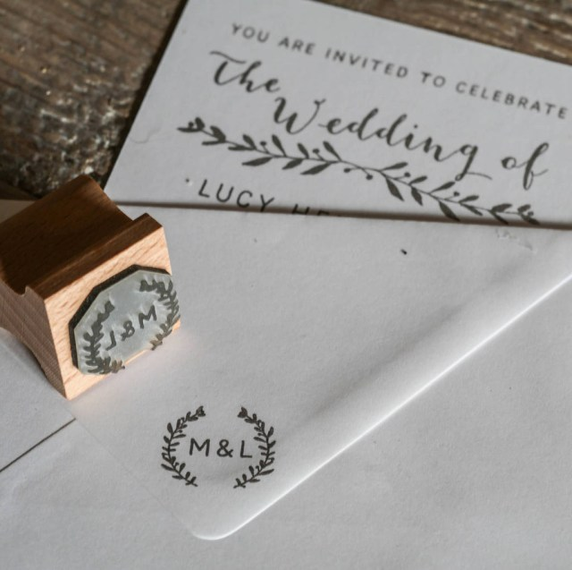 Wedding Invitation Stamps Wedding Invitation Stamp With Natural Sprig English Stamp Company