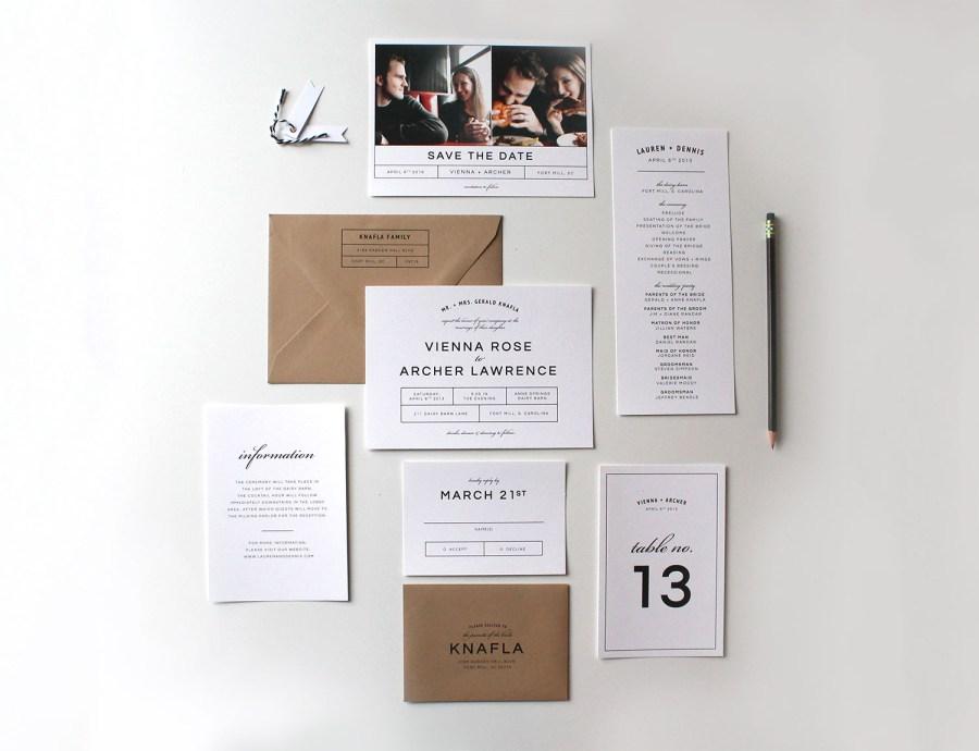 Wedding Invitation Suites Bold Modern Wedding Invitation Suite Tied Two