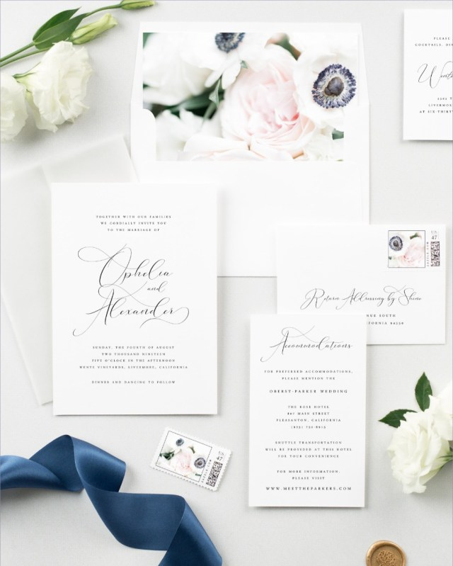 Wedding Invitation Suites Dont Miss The New Ophelia Invitation Suite From Shine Wedding