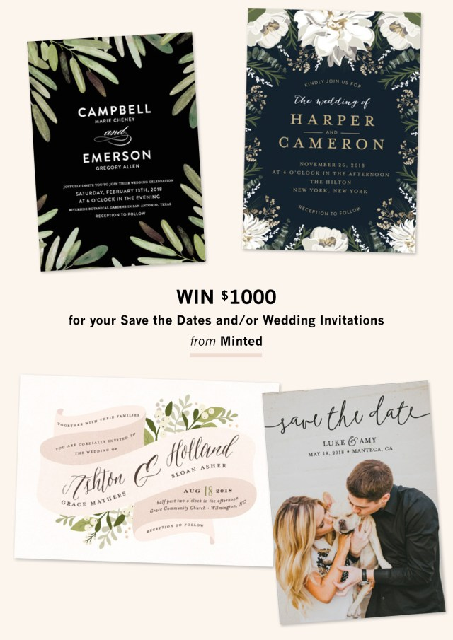 Wedding Invitation Suites Invitation Suites From Minted 1000 Giveaway Green Wedding Shoes