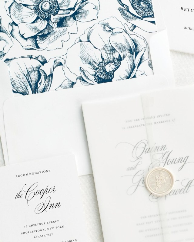 Wedding Invitation Suites Quinn Vellum Wedding Invitations Vellum Wedding Invitations Shine