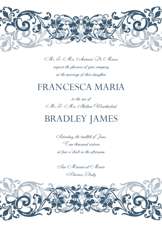 Wedding Invitation Template Free 30 Free Wedding Invitations Templates 21st Bridal World
