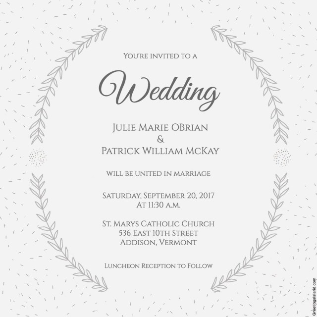 Wedding Invitation Template Free Free Printable Wedding Invitations Popsugar Smart Living