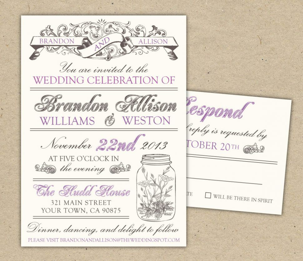 30+ Creative Picture of Wedding Invitation Templates Free Download