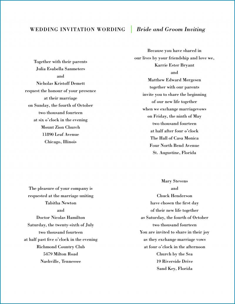 Wedding Invitation Wording Both Parents Wedding Invitation Both Parents Wording Samples Free Invitation