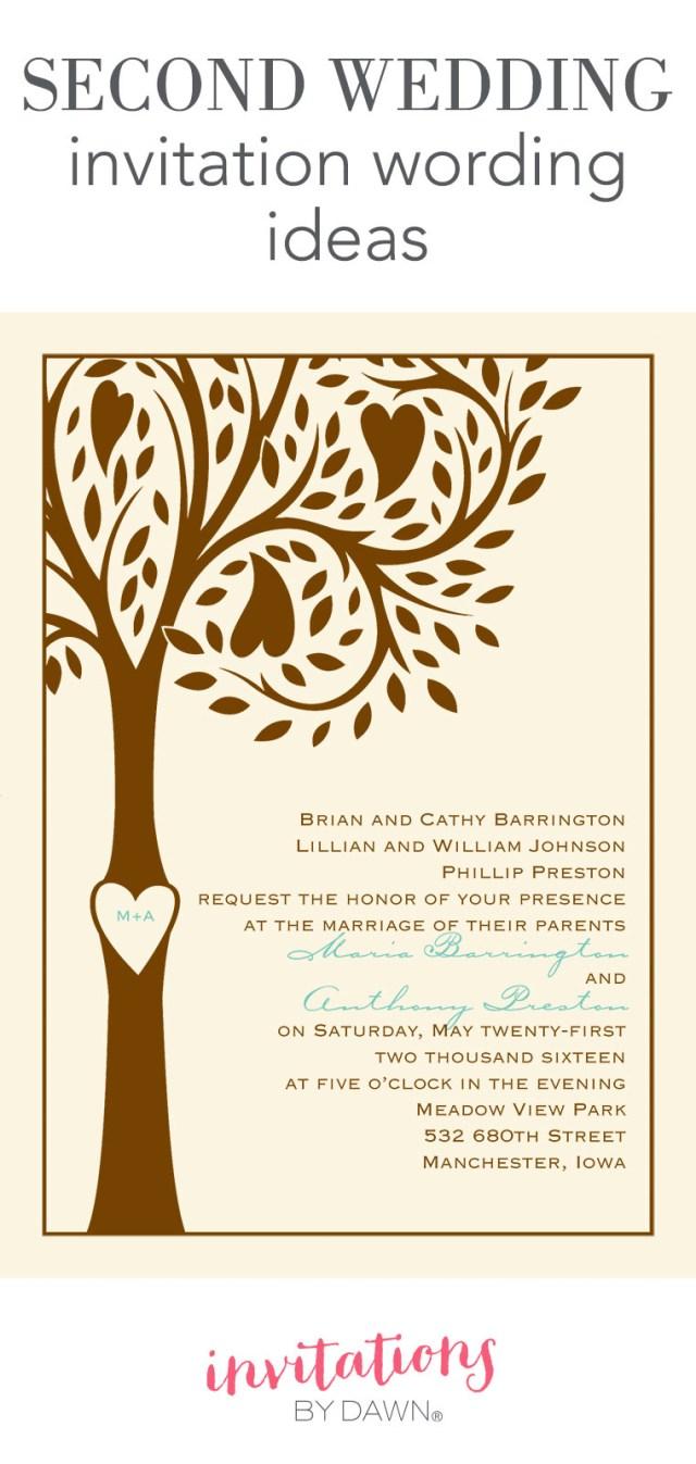 Wedding Invitation Wording Ideas Second Wedding Invitation Wording Invitations Dawn