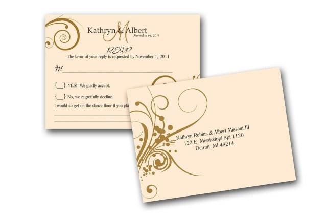 Wedding Invitations And Response Cards Wedding Invitation Wedding Invitations With Response Cards Free