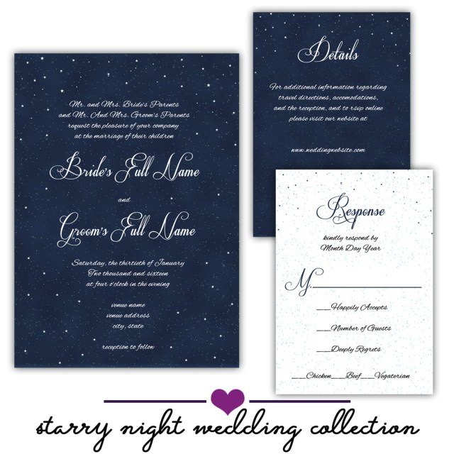 Wedding Invitations Free Samples Free Sample Starry Night Wedding Collection Anton Digital Designs