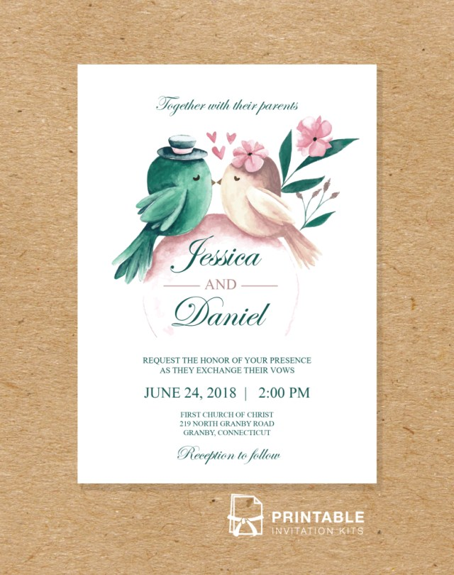 Wedding Invitations Kits Free To Download And Print Pdf Wedding Invitation Printable