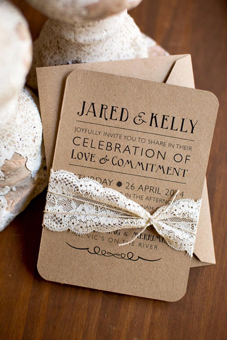 Wedding Invitations On Kraft Paper Kraft Paper Wedding Invitations Kraft Paper Wedding Invitations For