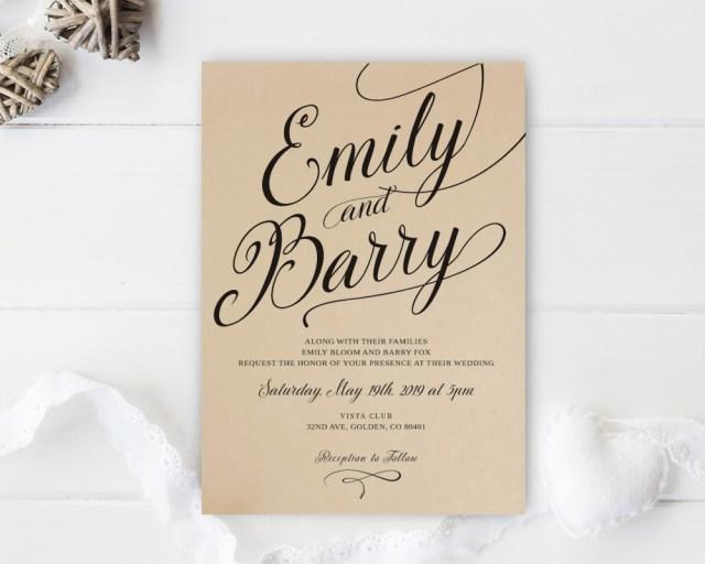 Wedding Invitations On Kraft Paper Kraft Paper Wedding Invitations Lemonwedding