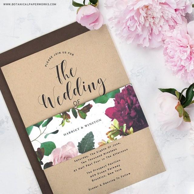 Wedding Invitations On Kraft Paper New Kraft Paper Wedding Invitations With Seed Paper Belly Bands