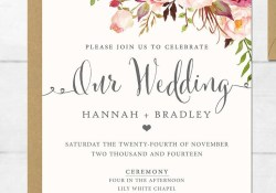 Wedding Invitations Printable 16 Printable Wedding Invitation Templates You Can Diy Wedding