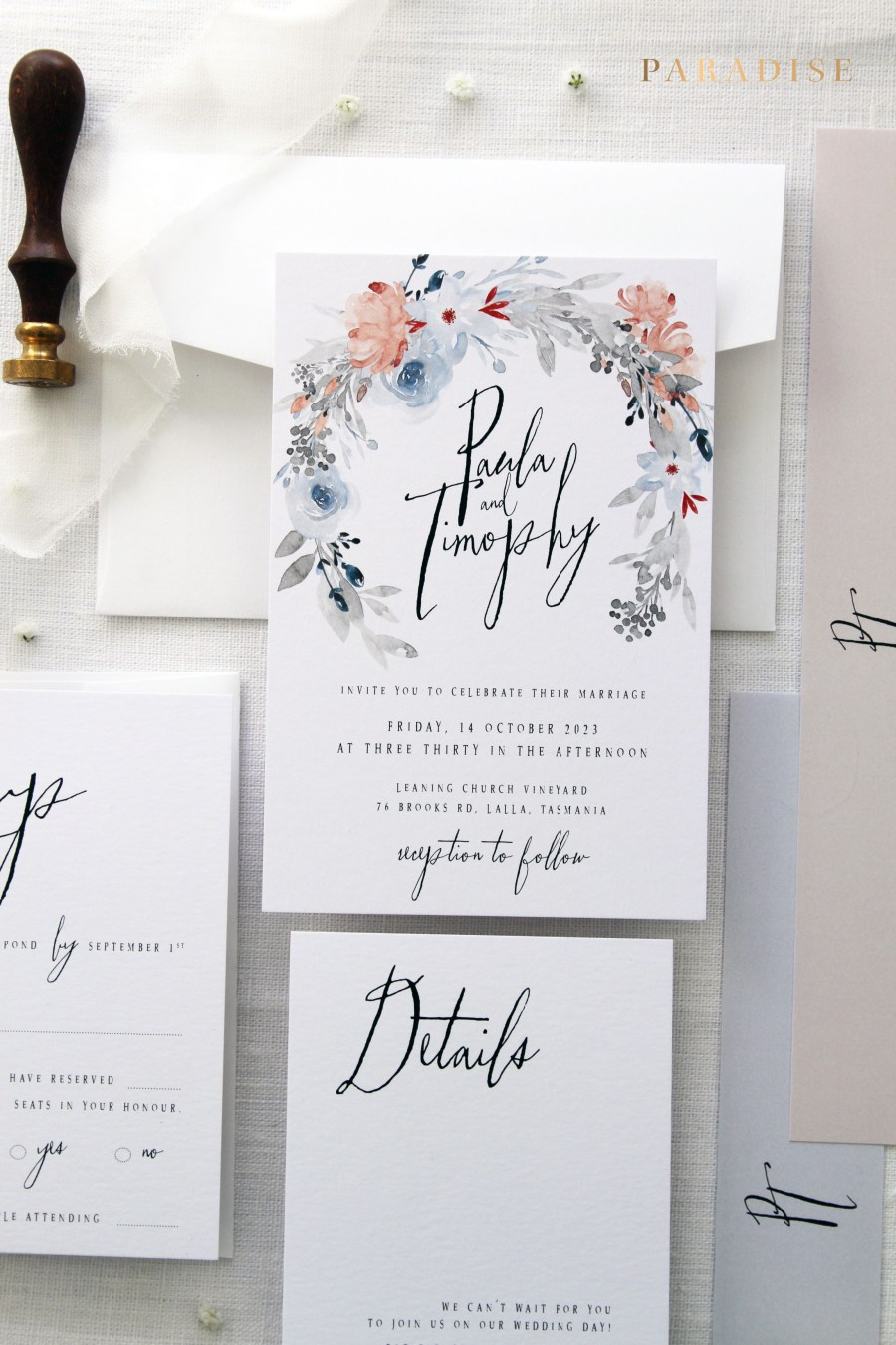 Wedding Invitations Sets Mariella 3 Wedding Invitation Sets Printable Wedding Invitations Or