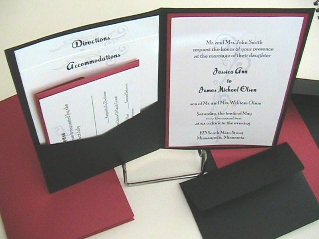 Wedding Invitations Sets Pocket Wedding Invitation Kits Pocket Wedding Invitations