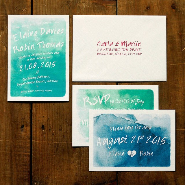 Wedding Invitations Sets Whimsical Watercolour Wedding Invitation Set Feel Good Wedding