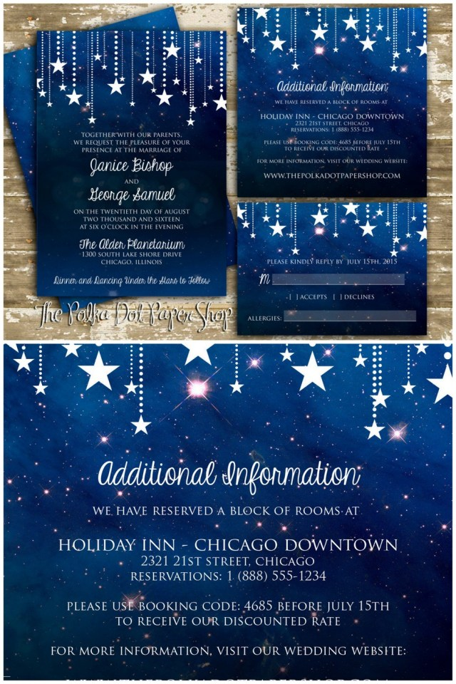 Wedding Invitations Under 1 Celestial Wedding Invitations 1