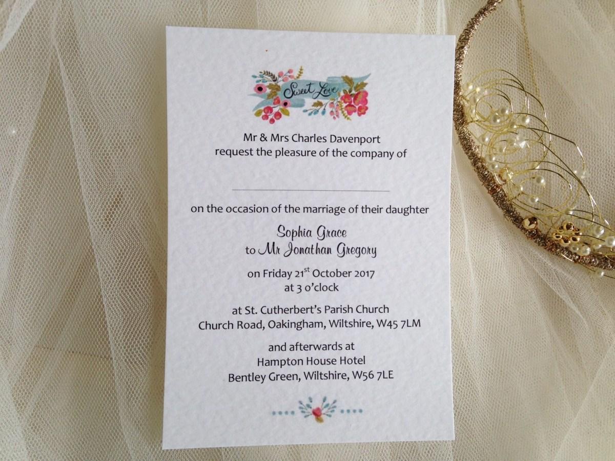 Wedding Invitations Under 1 Wedding Invitations Under 1 Daisy Chain Invites