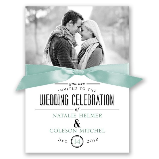 Wedding Invitations With Photo A Wedding Celebration Invitation Invitations Dawn