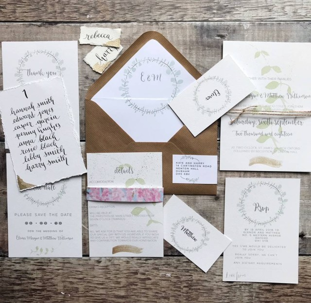 Wedding Invitations With Rsvp Rose Gold Wreath Wedding Invitations And Rsvp Clarendon Design