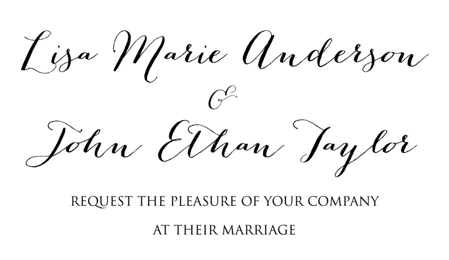 Font Used For Wedding Invitations: 32+ Brilliant Picture Of Wedding Invite Fonts