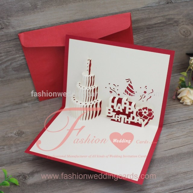 Wedding Pop Up Invitations 3d Pop Up Laser Cut Wedding Invitations Congraduation Birthday Cake