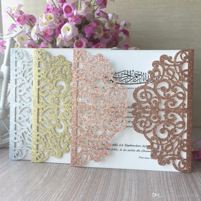 Wedding Pop Up Invitations Elegant Rose Glittery Wedding Invitation Card 2019 Pop Up Laser Cut