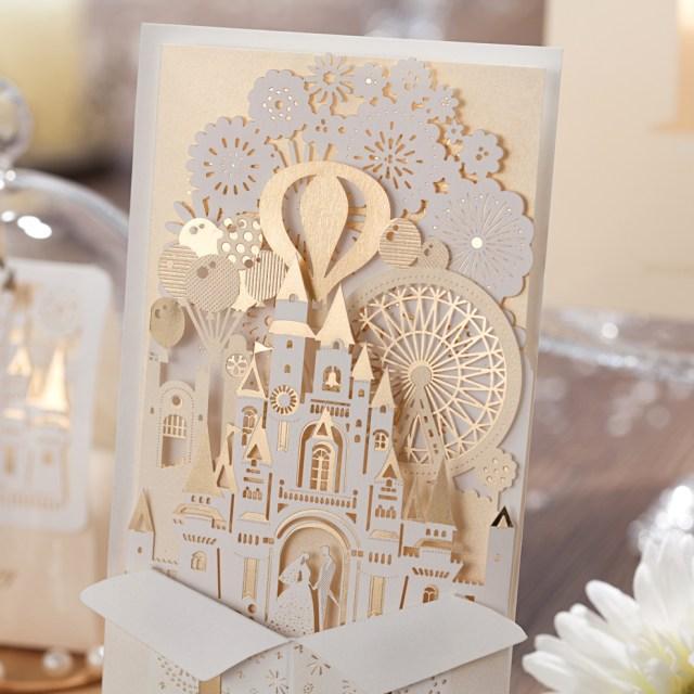 Wedding Pop Up Invitations Elegant Silver Pop Up 3d Invitation Card Laser Cut Gold Foil Wedding