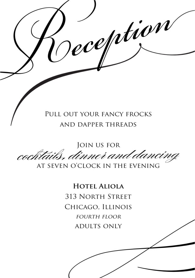 Wedding Reception Invitation Pin Kelli Hopkins Baker On Invitations Pinterest Wedding