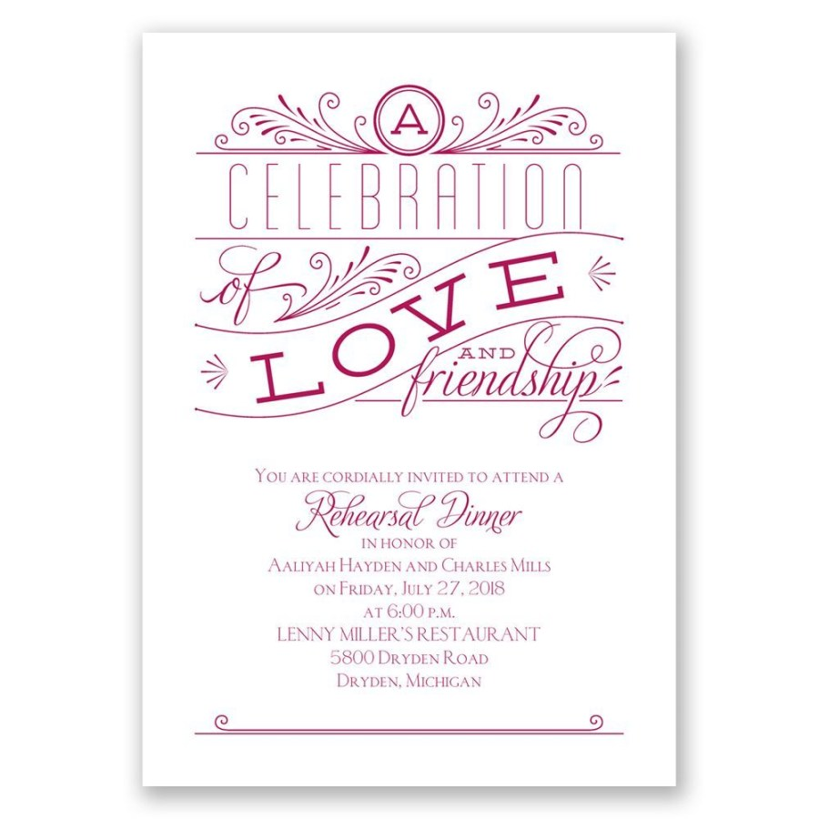 Wedding Rehearsal Dinner Invitations Love And Friendship Rehearsal Dinner Invitation Invitations Dawn