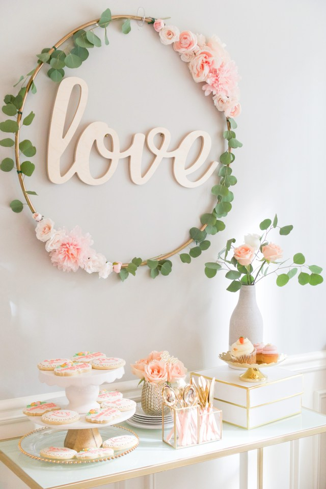 Wedding Shower Decor Blush And Gold Bridal Shower A Must See Bridal Shower