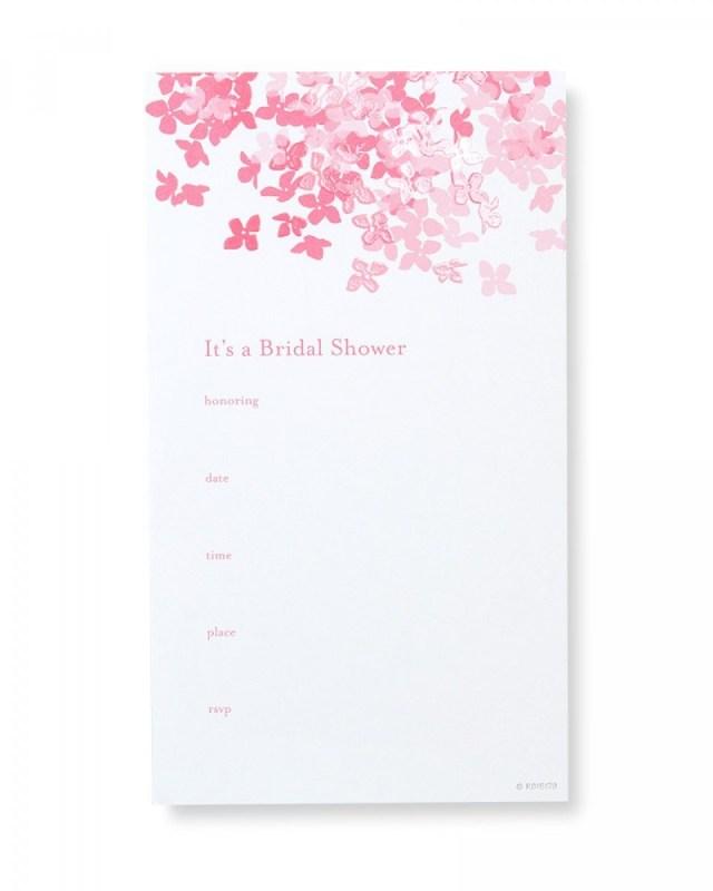 Wedding Shower Invites Glossy Pink Floral Bridal Shower Invitations