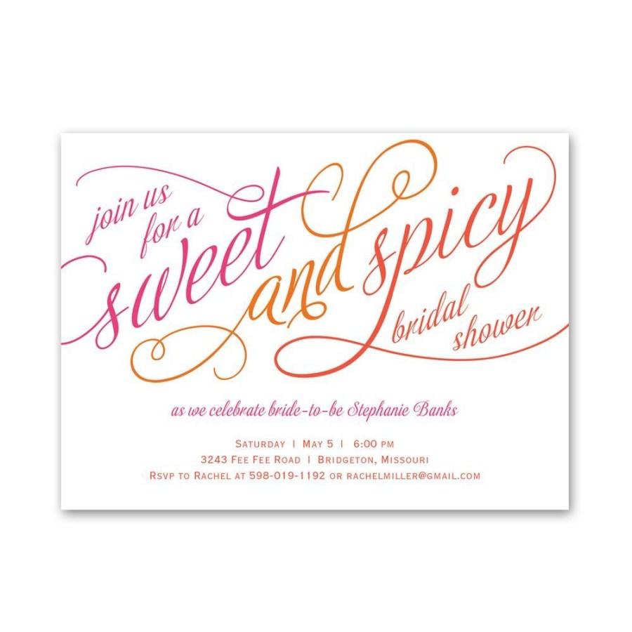 Wedding Shower Invites Sweet And Spicy Petite Bridal Shower Invitation Invitations Dawn