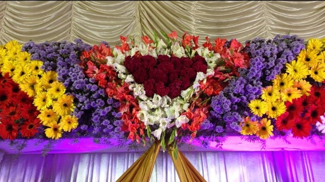 Wedding Stage Decoration Materials Flowers Stages Decoration Video Youtube
