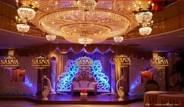 Wedding Stage Decoration Materials Wedding Stage Decorators Wedding Hall Decoration Sarva Weddings