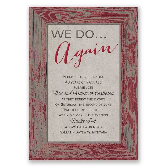 Wedding Vow Renewal Invitations Tried And True Vow Renewal Invitation Wedding Ideas Pinterest