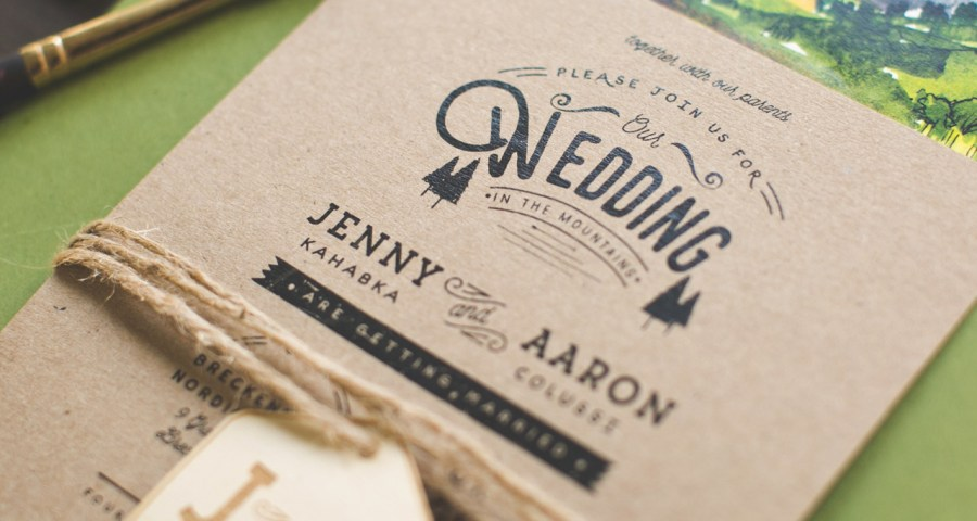 Woodsy Wedding Invitations Woodsy Illustrated Wedding Invitations