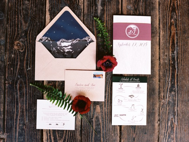 Woodsy Wedding Invitations Woodsy Wedding Invitations Lauren And Timothy Paper And Home