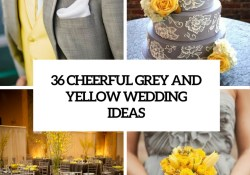 Yellow Wedding Decorations 36 Cheerful Grey And Yellow Wedding Ideas Weddingomania