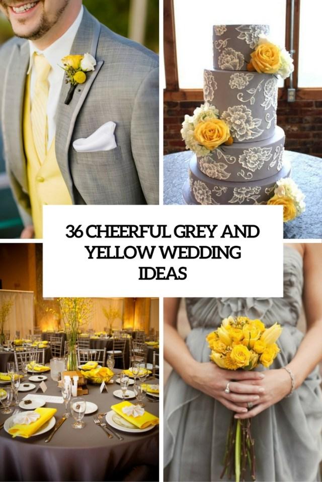 Yellow Wedding Decorations 36 Cheerful Grey And Yellow Wedding Ideas Weddingomania