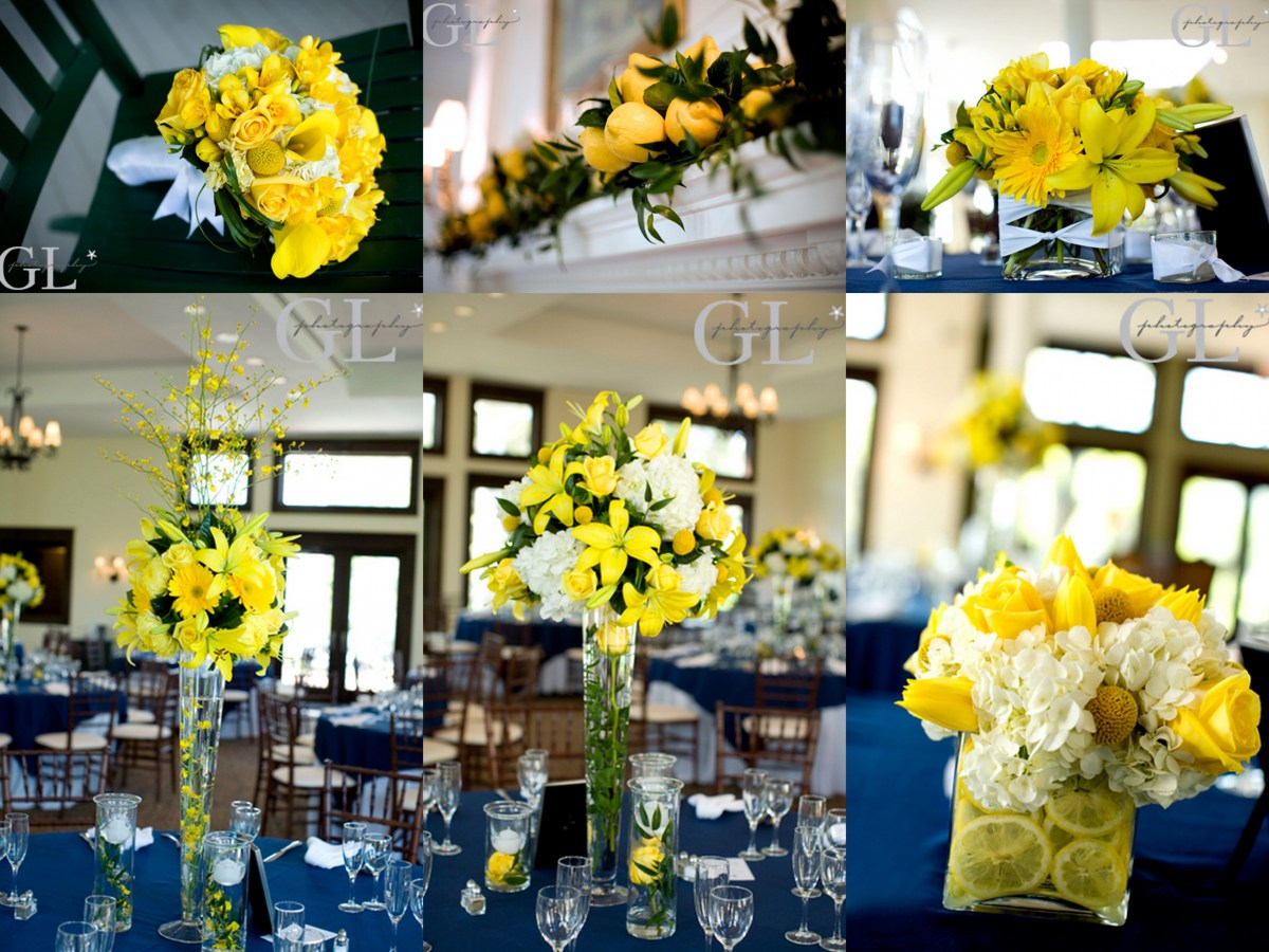Yellow Wedding Decorations Navy And Yellow Wedding Decorations Yellow Wedding Flowers
