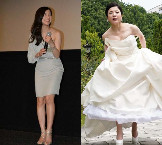 吉高由里子の体型比較
