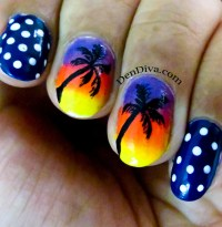 Beach Nail art tutorial  2 different designs  DenDiva