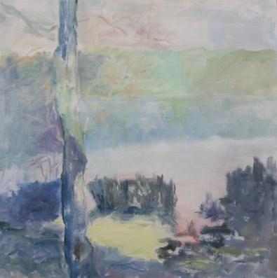 Mørke sø Olie på lærred 60x60 cm 2016
