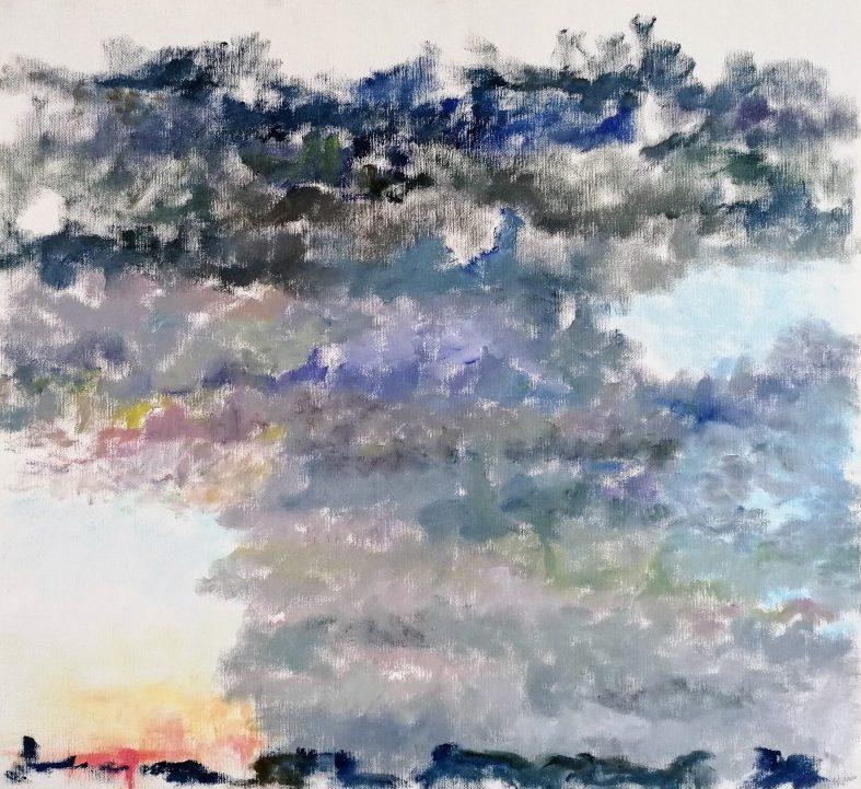 Morgen Olie på lærred 65x60 cm