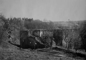 Mlýn Cimburk - ruiny, rok 1940