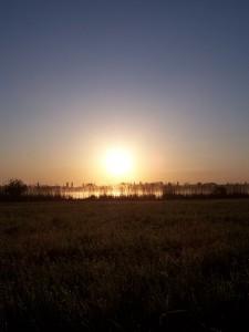 východ slunce nad Vavřineckým rybníkem
