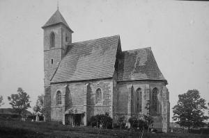 Historická fotografie kostela sv.Trojice